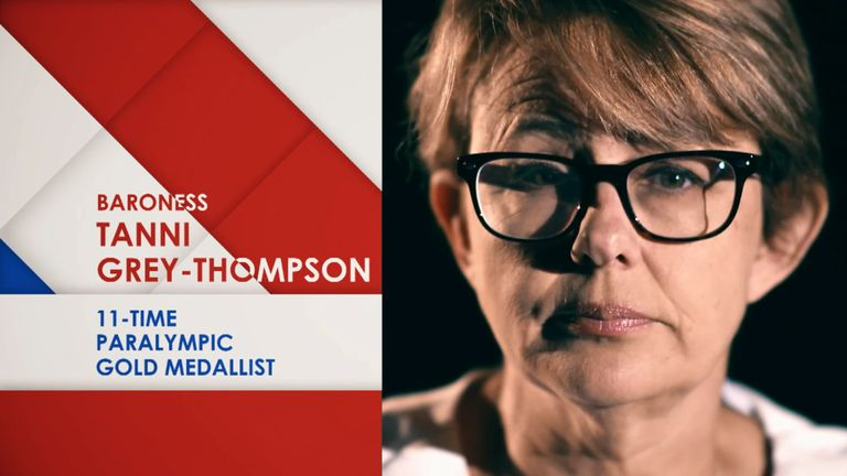 Baroness Tanni Grey-Thompson, Paralympics, My Icon screengrab