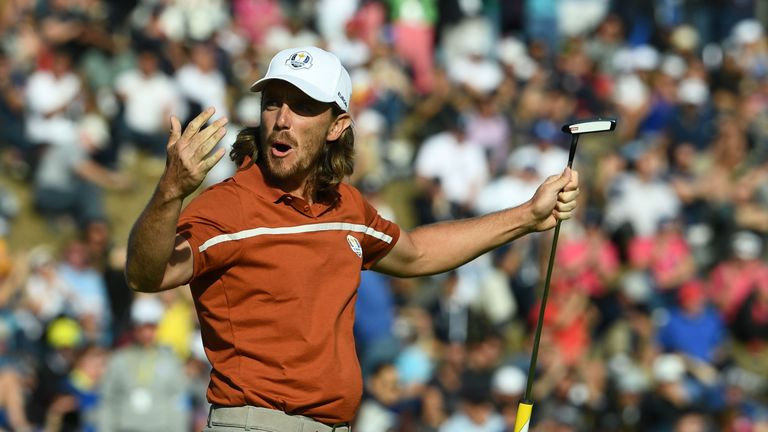 Tommy Fleetwood formed a formidable partnership with Francesco Molinari at the Ryder Cup
