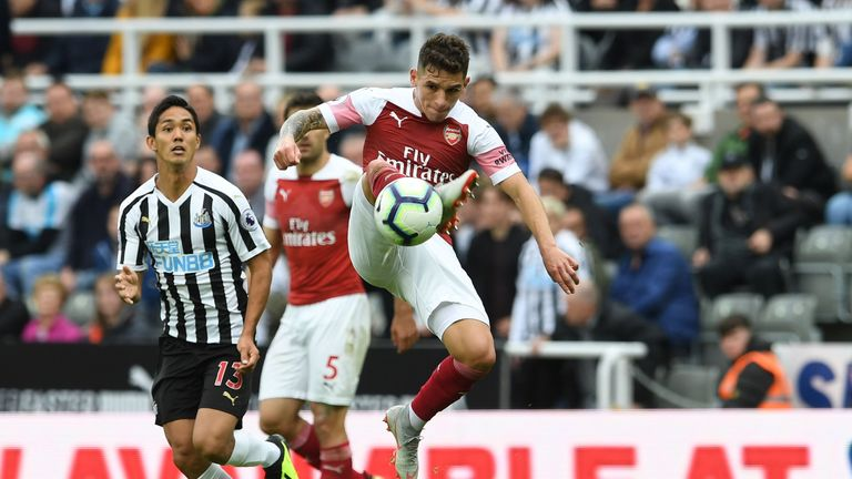 Torriera during the Premier League match between Newcastle United and Arsenal FC at St. James Park on September 15, 2018 in Newcastle upon Tyne, United Kingdom.