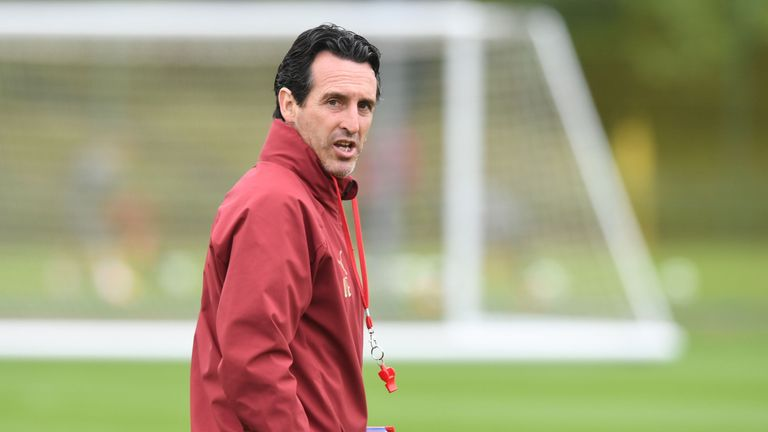 Unai Emery is trying to make his mark at Arsenal