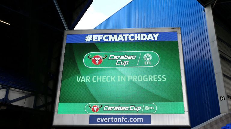 VAR has been used at recent EFL Cup games