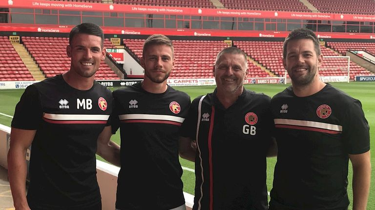 Fryatt was announced as a Walsall youth coach in the summer [Credit: Walsall FC]