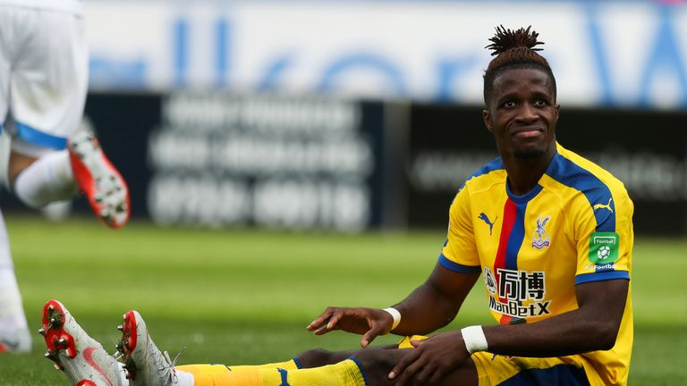 Zaha has complained of being singled out for rough treatment this season