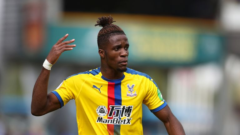 Wilfried Zaha is Crystal Palace's top scorer this season with three goals