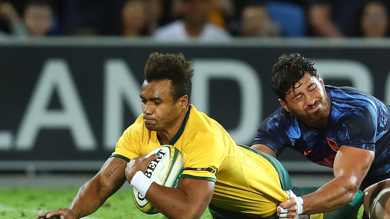 Will Genia crossing for one of Australia's tries