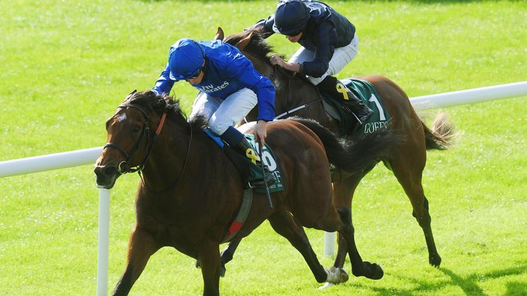 Quorto ridden by William Buick win the Goffs Vincent O'Brien National Stakes