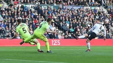 Derby County's Craig Bryson scores after 19 seconds