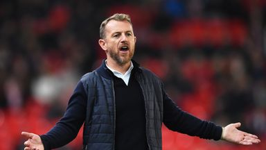Gary Rowett was sent off in Stoke's loss to his former club Birmingham