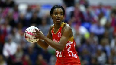 Jodie Gibson was part of England's Commonwealth Games side which won netball gold