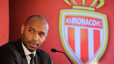 Henry makes his managerial debut with Monaco against Strasbourg on Saturday