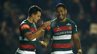 A man-of-the-match display by Manu Tuilagi (right) saw Leicester pull away for a critical Champions Cup win