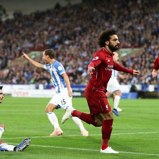 Salah sees off struggling Huddersfield