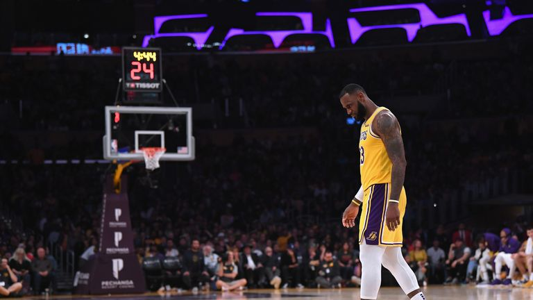 LeBron James was left to rue missed opportunities as the Los Angeles Lakers suffered an overtime loss to the San Antonio Spurs