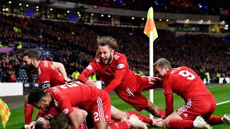 Aberdeen knocked out Rangers in the semi-final