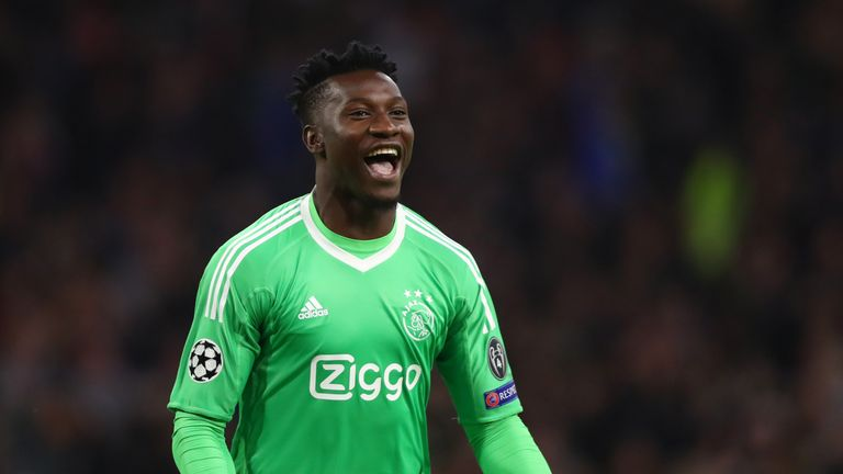 Tottenham are reportedly looking at Ajax goalkeeper Andre Onana