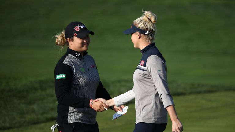 Hull (right) is aiming for her first title since the Tour Championship in 2016