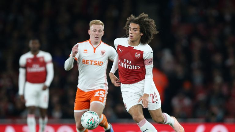 Matteo Guendouzi (right) was sent off