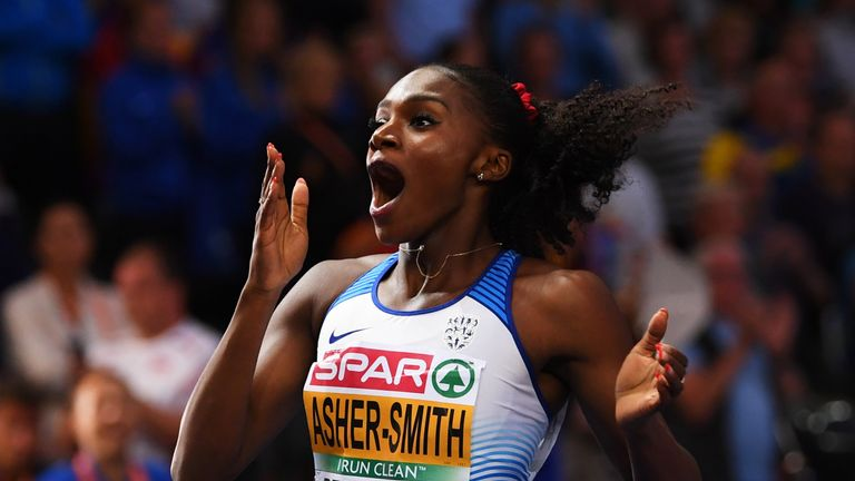 Dina Asher-Smith won three golds at the Athletics World Championships in Berlin
