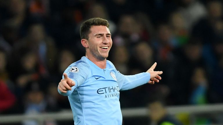 Aymeric Laporte scored for City against Shakhtar Donetsk in the Champions League