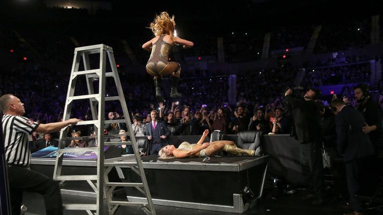 The last woman standing match between Flair and Lynch set new levels of brutality for a WWE women's match