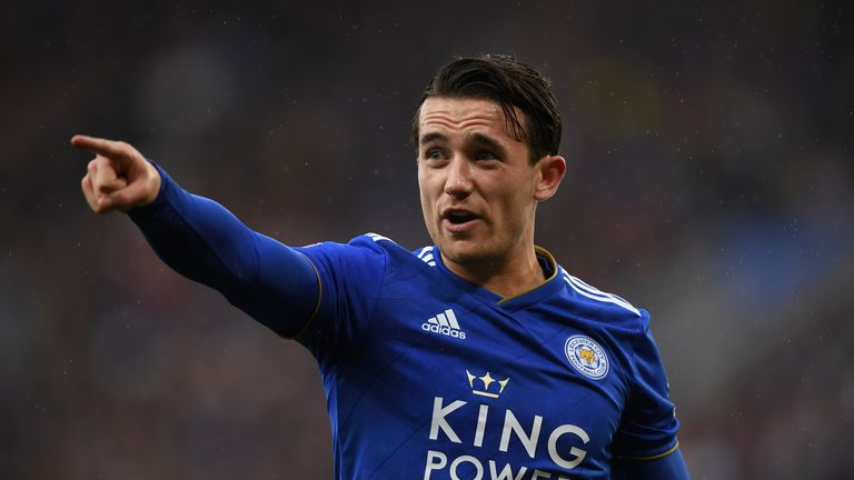Ben Chilwell in action for Leicester City