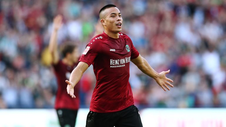 Bobby Wood scored twice as Hannover beat Stuttgart at the HDI-Arena