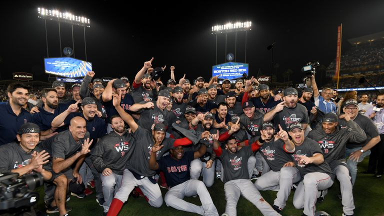 The Boston Red Sox beat the LA Dodgers to win the World Series