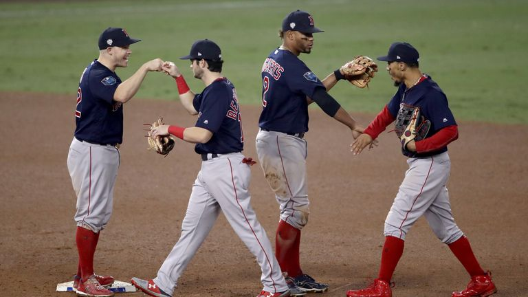 The Red Sox won game four to take a 3-1 lead in the best-of-seven series
