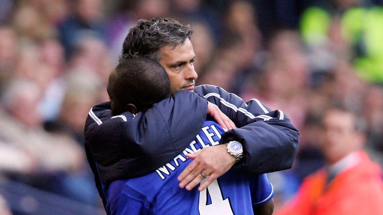 Claude Makelele and Jose Mourinho won two Premier League titles together during their time at Chelsea