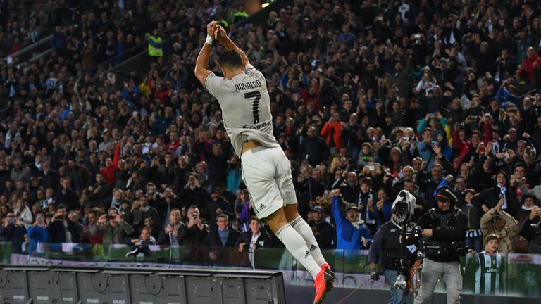 Ronaldo celebrates his strike