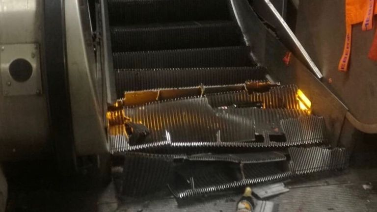 Rome metro station escalator goes haywire, injuring riders