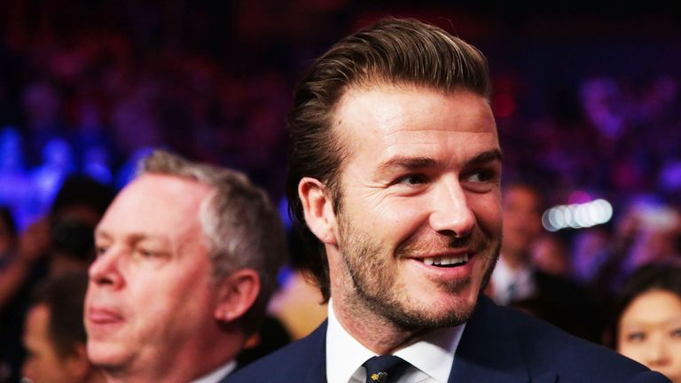 David Beckham has attended a number of big-name bouts