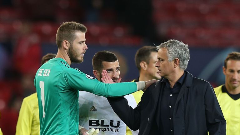 De Gea (left) has been Jose Mourinho's number one at Manchester United
