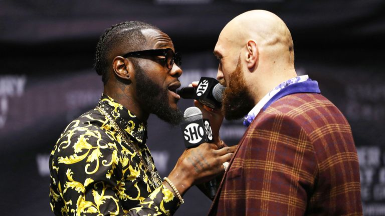 Heavyweights Deontay Wilder and Tyson Fury scuffle at promotional appearance