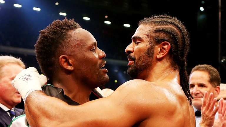 Haye is now Chisora's manager eight years after their grudge match
