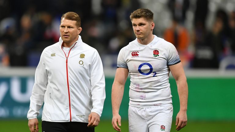 Good cop, bad cop? England co-captains Dylan Hartley and Owen Farrell