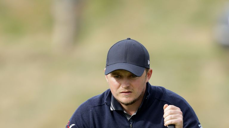Eddie Pepperell holds the halfway lead at the British Masters
