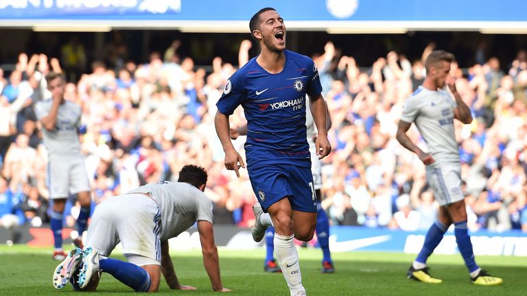 Hazard is enjoying the best form of his career with Chelsea and Belgium