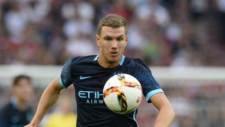 Edin Dzeko in action for Manchester City