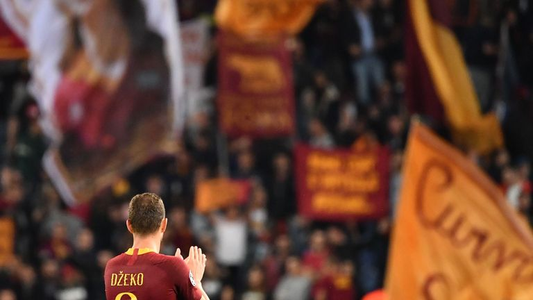 Dzeko has become a fan favourite at Roma