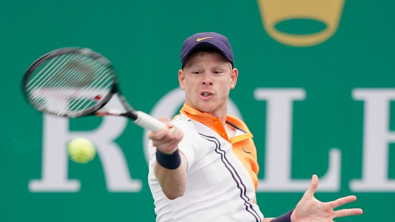 Kyle Edmund recovered from a break down to win the first set