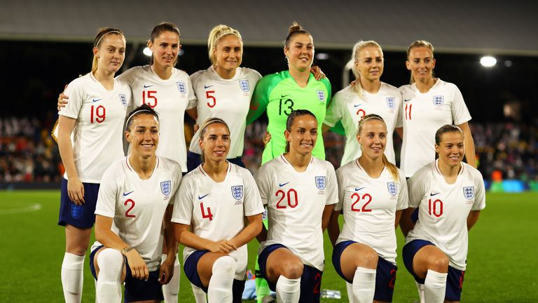 during the International Friendly match between England Women and Australia at Craven Cottage on October 9, 2018 in London, England.