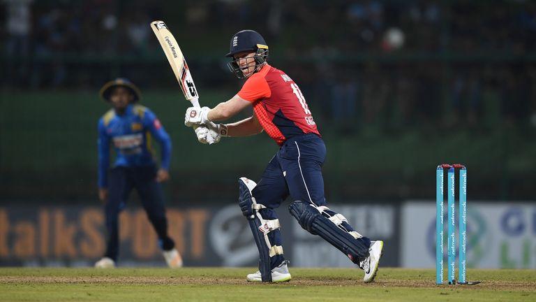 during the 3rd One Day International match between Sri Lanka and England at Pallekele Cricket Stadium on October 17, 2018 in Kandy, Sri Lanka.
