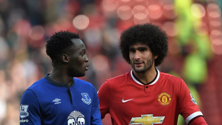 Romelu Lukaku and Marouane Fellaini have played for both Manchester United and Everton
