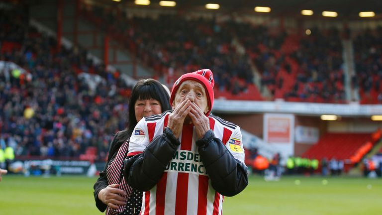 Frank Coulson had his wish granted with a goal in front of Sheffield United's famous Kop - picture courtesy Sportimage