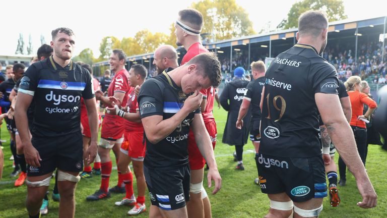 Freddie Burns cuts a dejected figure at the final whistle
