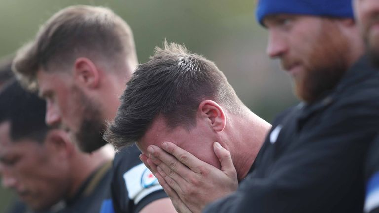 Freddie Burns was inconsolable after Bath's defeat against Toulouse