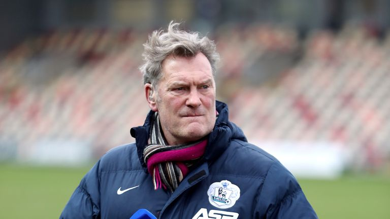 Glenn Hoddle is recovering in hospital