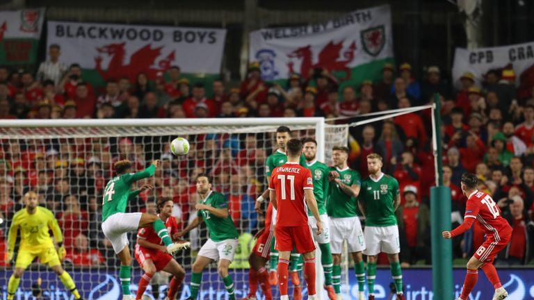 Harry Wilson scores a stunning free-kick against Republic of Ireland