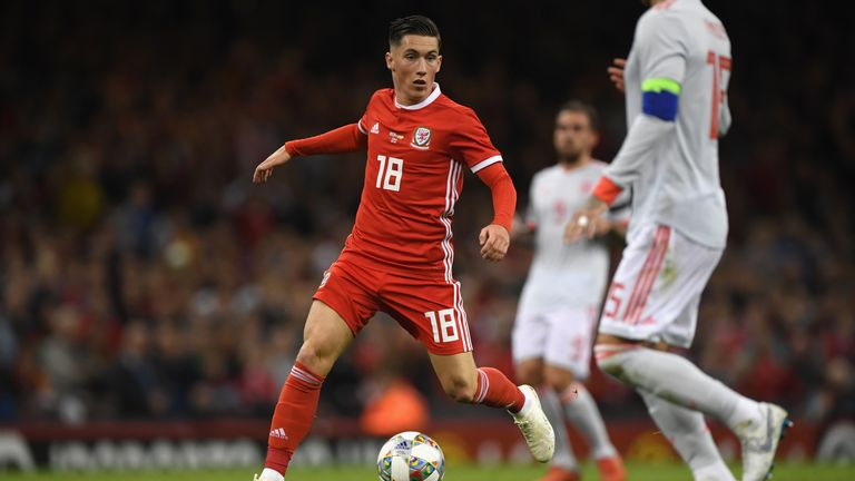 Harry Wilson during the International Friendly match between Wales and Spain on October 11, 2018 in Cardiff, United Kingdom.